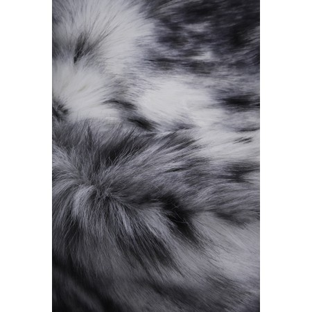 Helen Moore Pillbox Faux Fur Hat - Grey