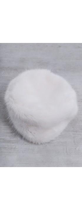 Helen Moore Pillbox Faux Fur Hat Ermine