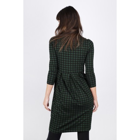Masai Clothing Hope Houndstooth Tunic Dress - Green