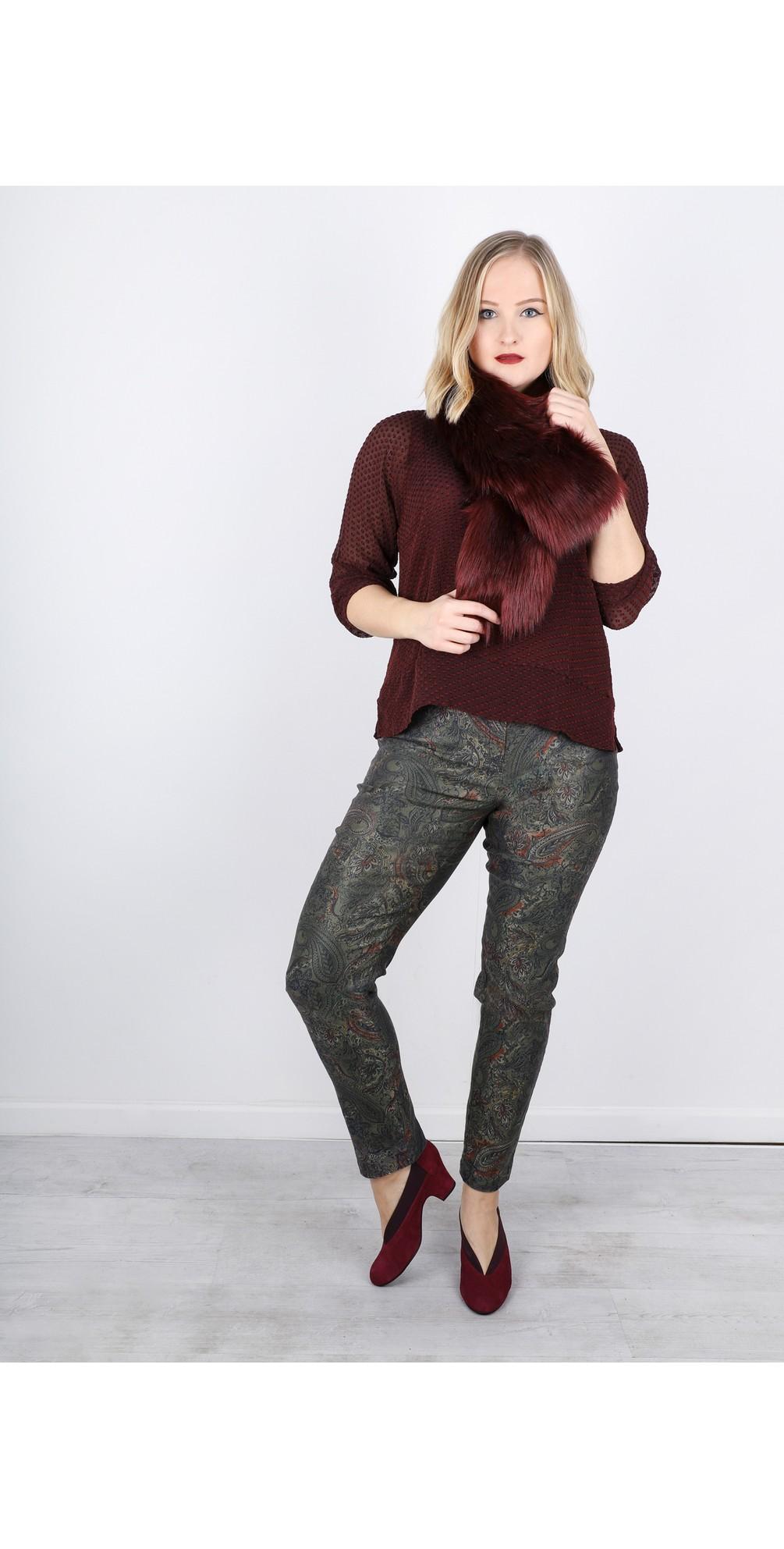 Bella Paisley Print Trouser main image