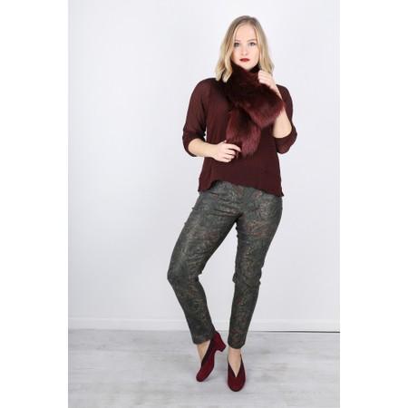 Robell  Bella Paisley Print Trouser - Green