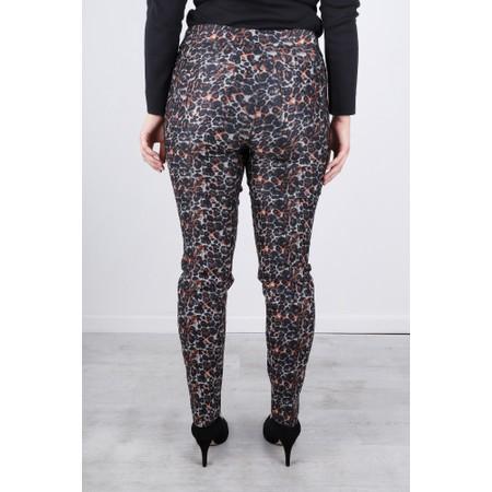 Robell  Rose 78cm Animal Print Trouser - Grey