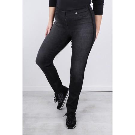 Robell  Bella 78cm Glitter Side Stripe Jeans - Black