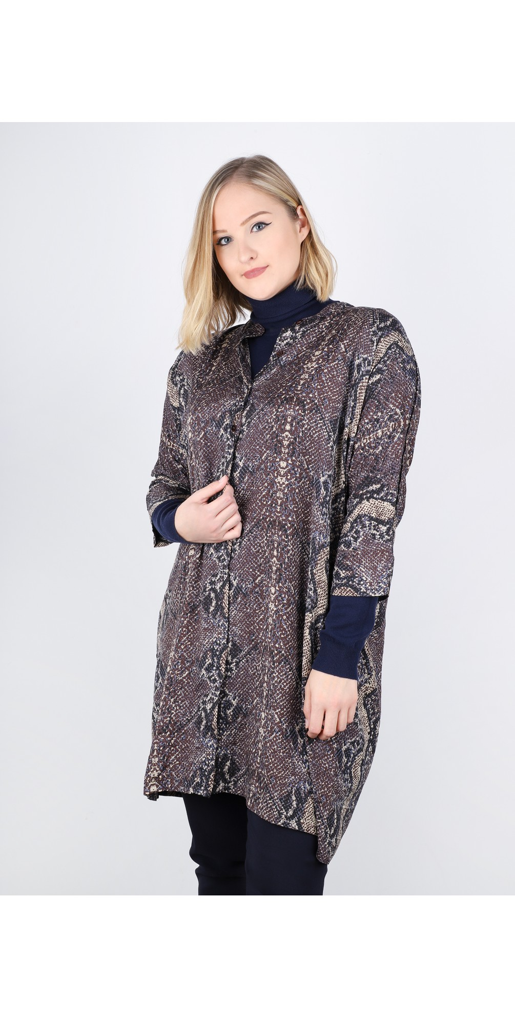 Losetta Snakeskin Shirt Dress main image