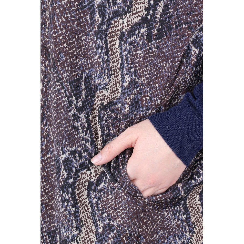 Masai Clothing Losetta Snakeskin Shirt Dress Twill