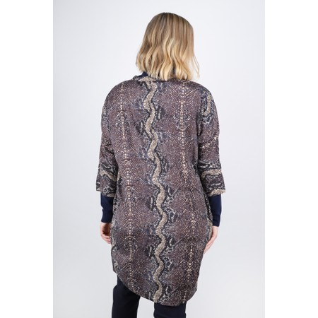 Masai Clothing Losetta Snakeskin Shirt Dress - Beige