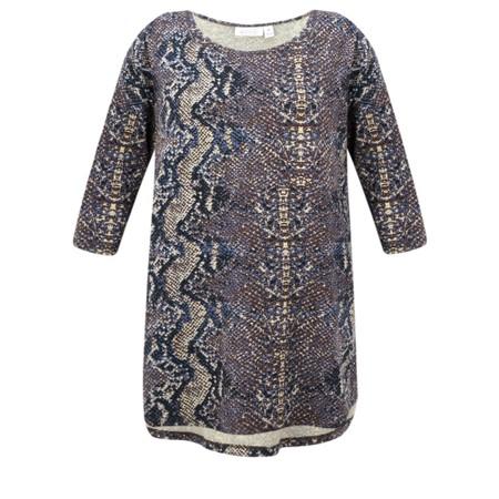 Masai Clothing Binne Snakeskin Print Tunic - Beige