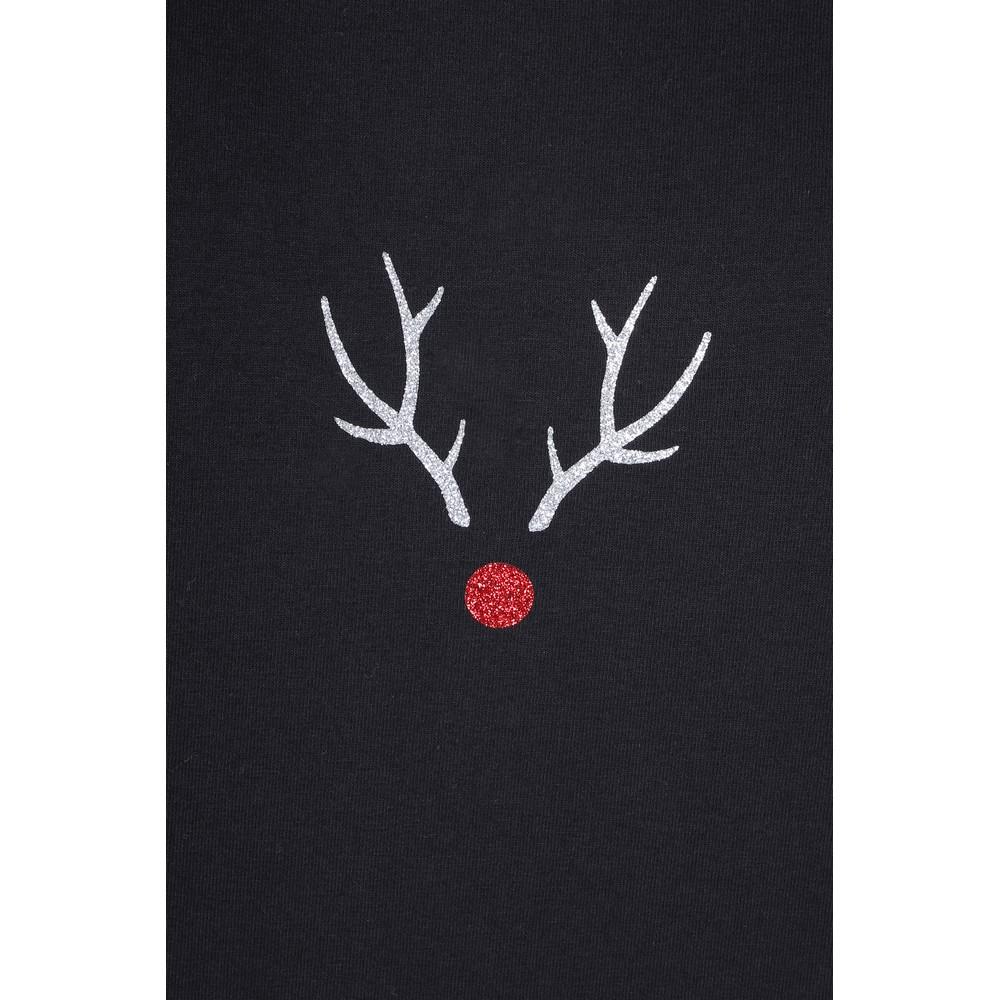 Chalk Robyn Reindeer Top Black / Silver