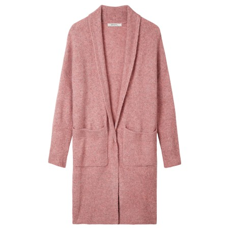 Sandwich Outlet  Chunky Rib Knit Cardigan - Pink