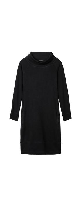 Sandwich Outlet Plain High Neck Dress Almost Black