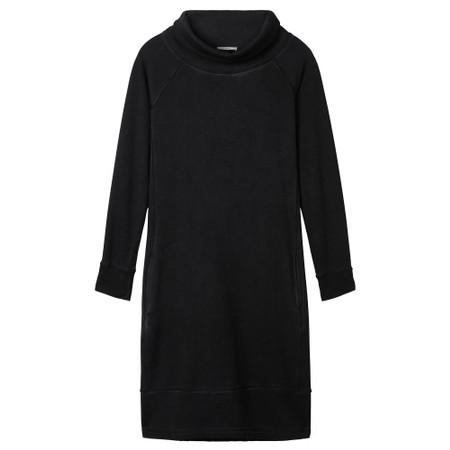 Sandwich Outlet Plain High Neck Dress - Black
