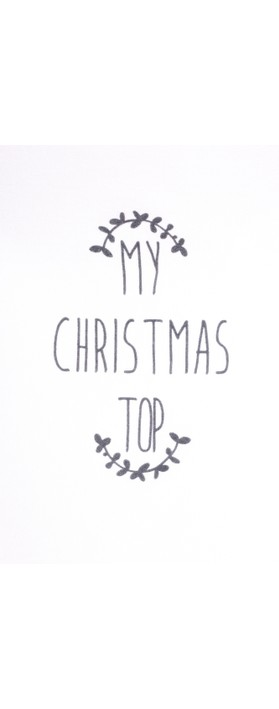 Chalk Robyn My Christmas Top White / Charcoal