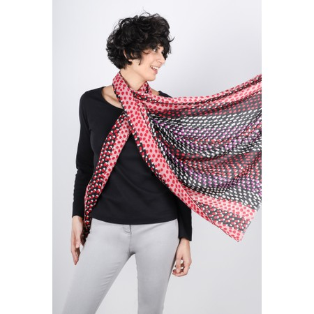 Gemini Label  Misaki Two Tone Spot Scarf - Red