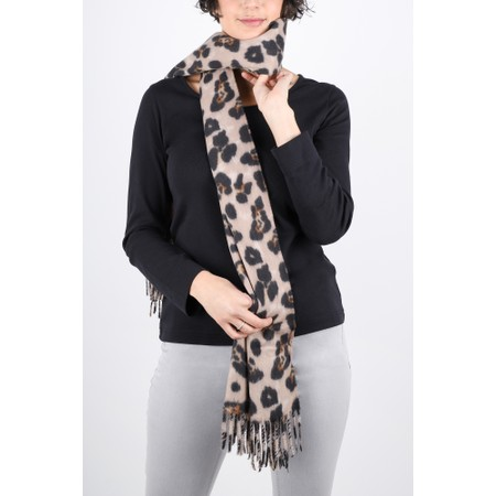 Gemini Label  Malia Supersoft Leopard Scarf - Brown