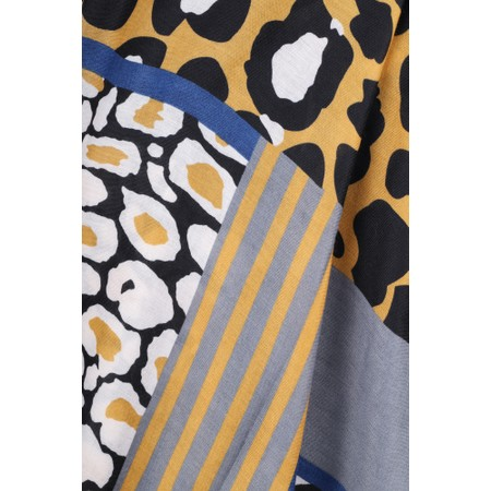 Gemini Label  Momoka Leopard Dots Scarf - Yellow