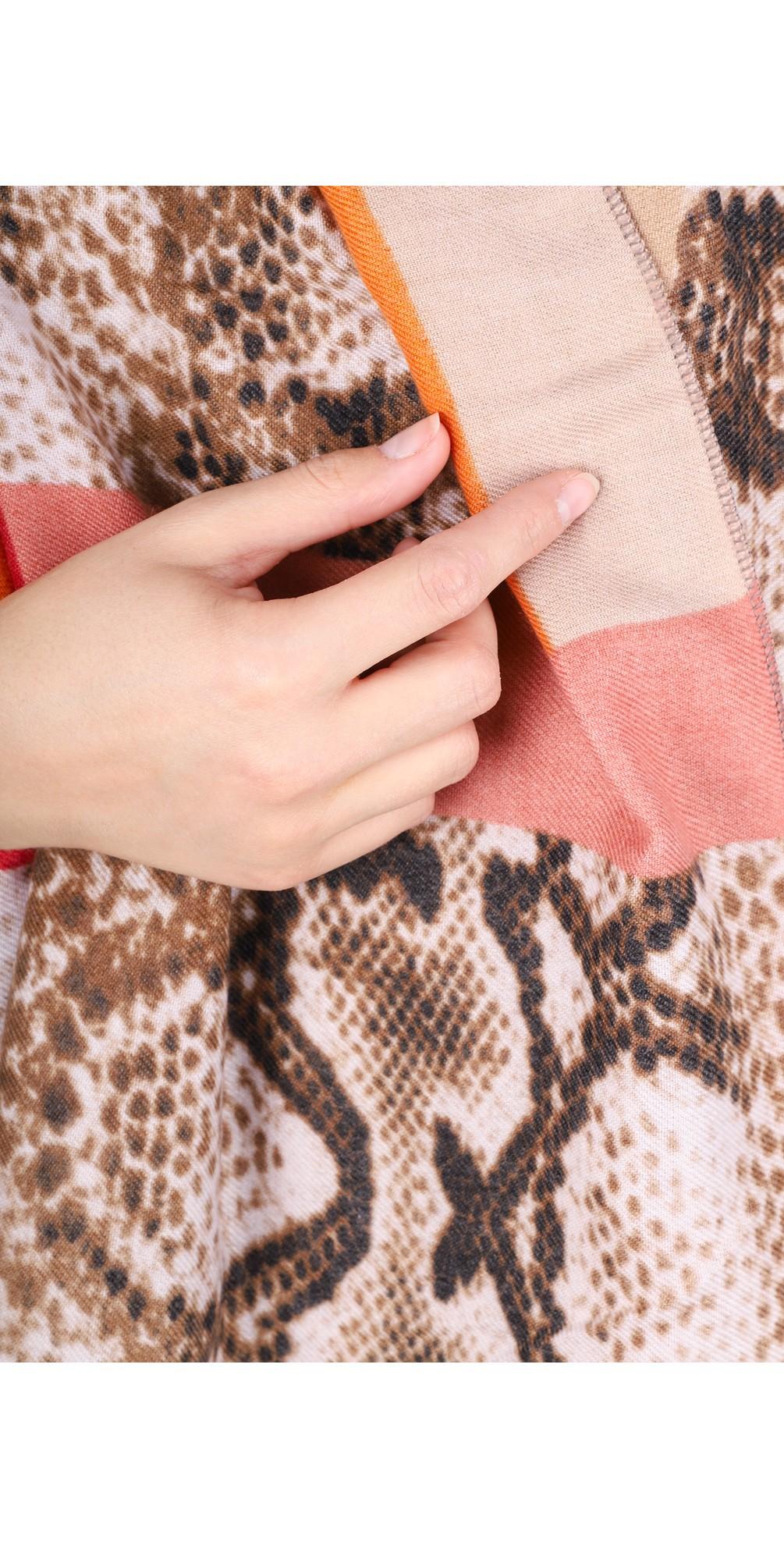 Miyu Patched Animal Print Scarf main image