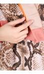 Gemini Label Accessories Orange Miyu Patched Animal Print Scarf