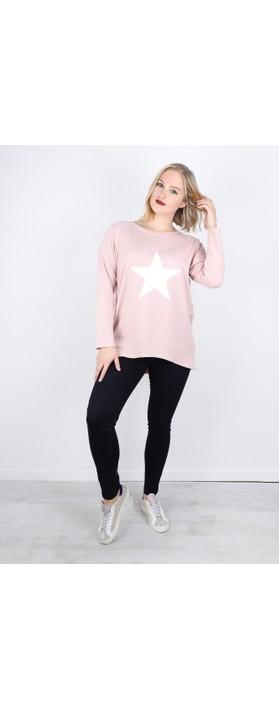 Chalk Robyn Star Top Pink / White