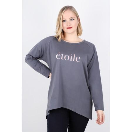 Chalk  Robyn Etoile Top - Grey