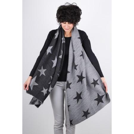 Gemini Label  Revo Stars Scarf - Black