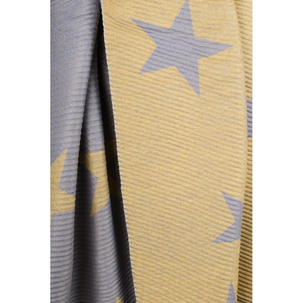 Gemini Label Accessories Revo Stars Reversible Scarf Mustard