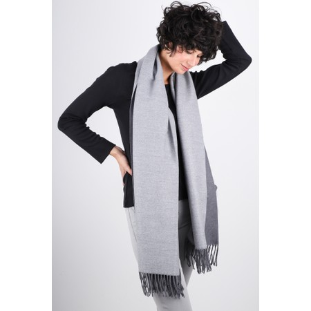 Gemini Label  Riko Reversible Plain Scarf - Blue