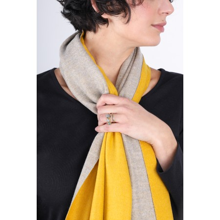 Gemini Label  Riko Reversible Plain Scarf - Yellow