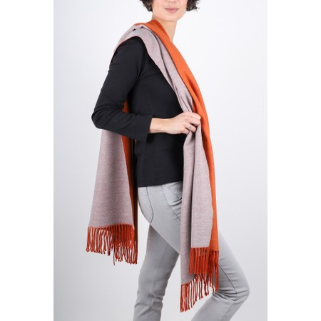 Gemini Label  Riko Reversible Plain Scarf - Orange