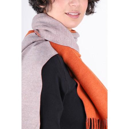 Gemini Label  Riko Reversible Plain Scarf - Orange