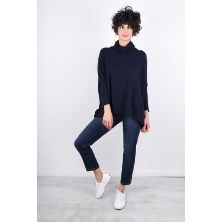Fenella  Nina Supersoft Roll Neck Jumper  - Blue