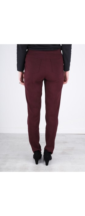 Robell Bella Aubergine 78cm Slim Fit Full Length Trouser Aubergine 560