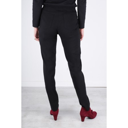 Robell  Bella 78cm Slim Fit Full Length Trouser - Black