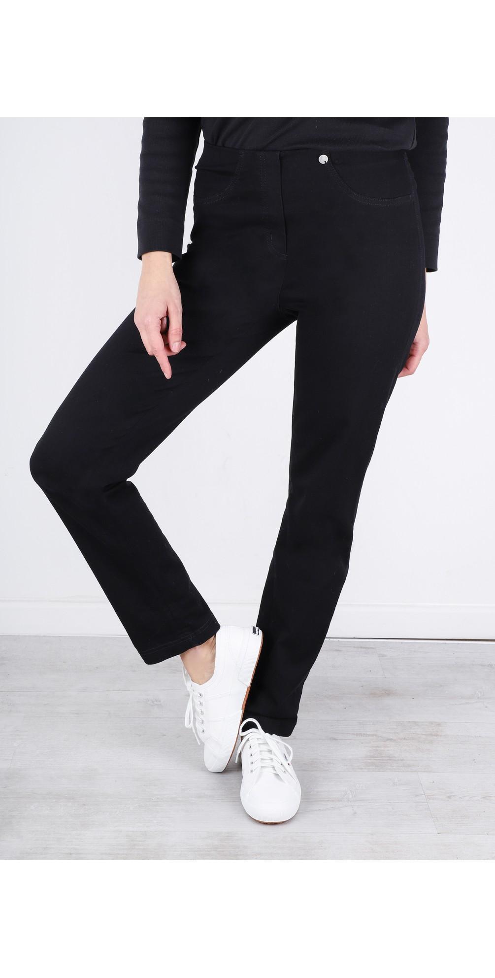 Bella  Black Slim Fit Full Length Jean main image