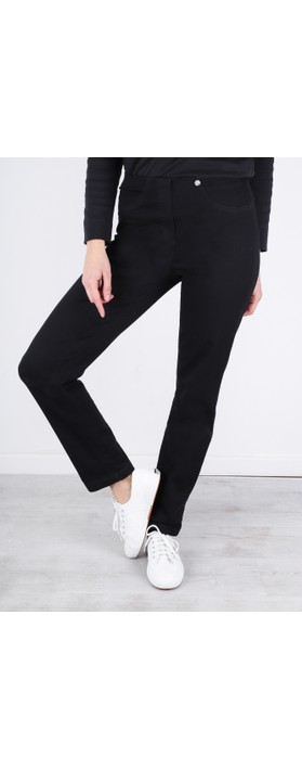 Robell Bella  Black Slim Fit Full Length Jean Black