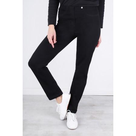 Robell  Bella Slim Fit Full Length Jean - Black
