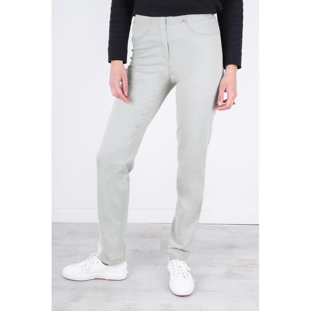 Robell Bella Light Grey Slim Fit Full Length Jean Light Grey