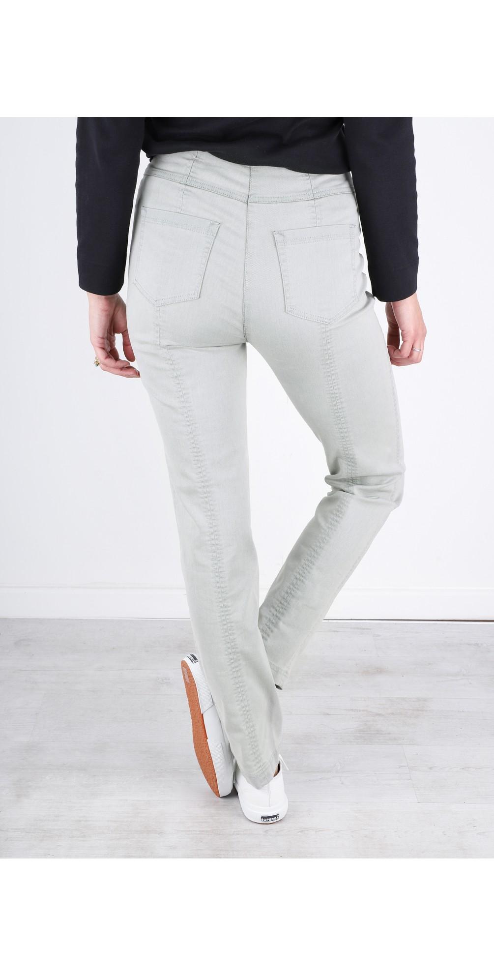 Bella Light Grey Slim Fit Full Length Jean main image