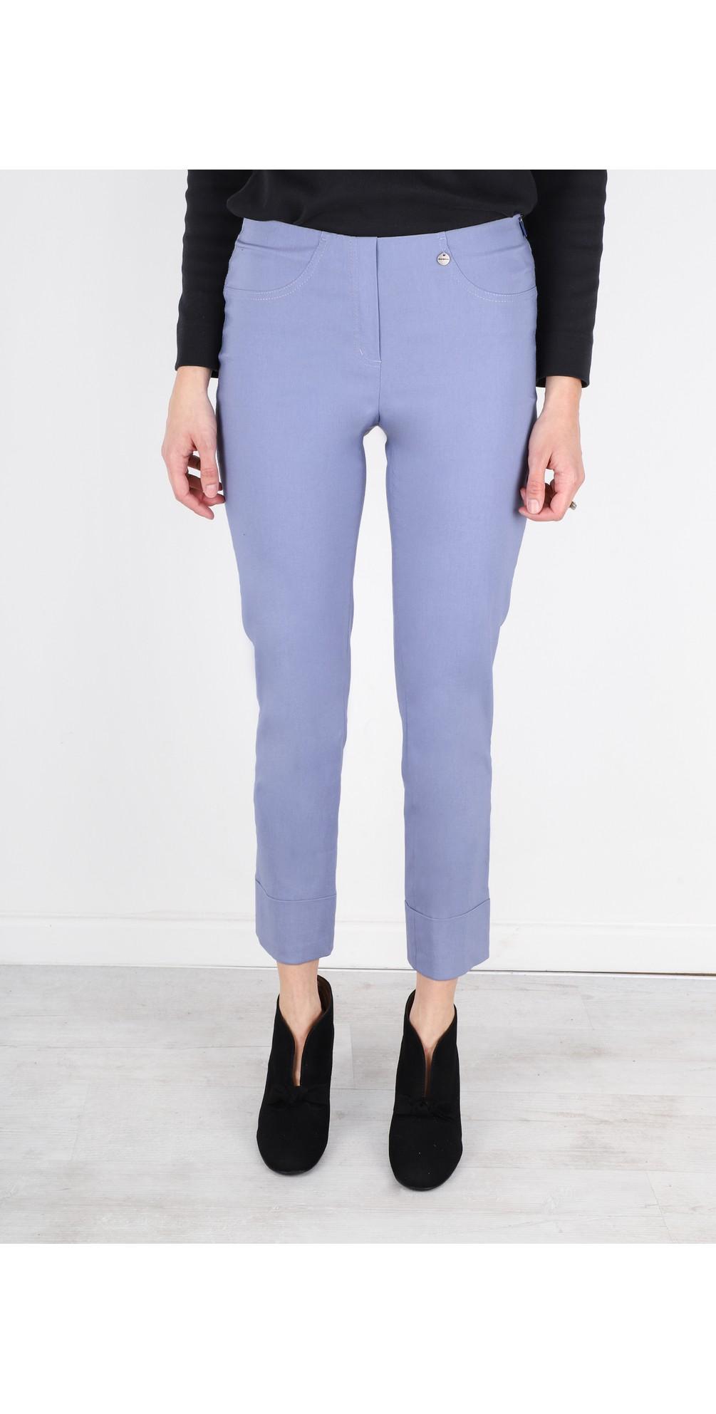 Bella 09 Denim Blue Ankle Length Crop Cuff Trouser main image