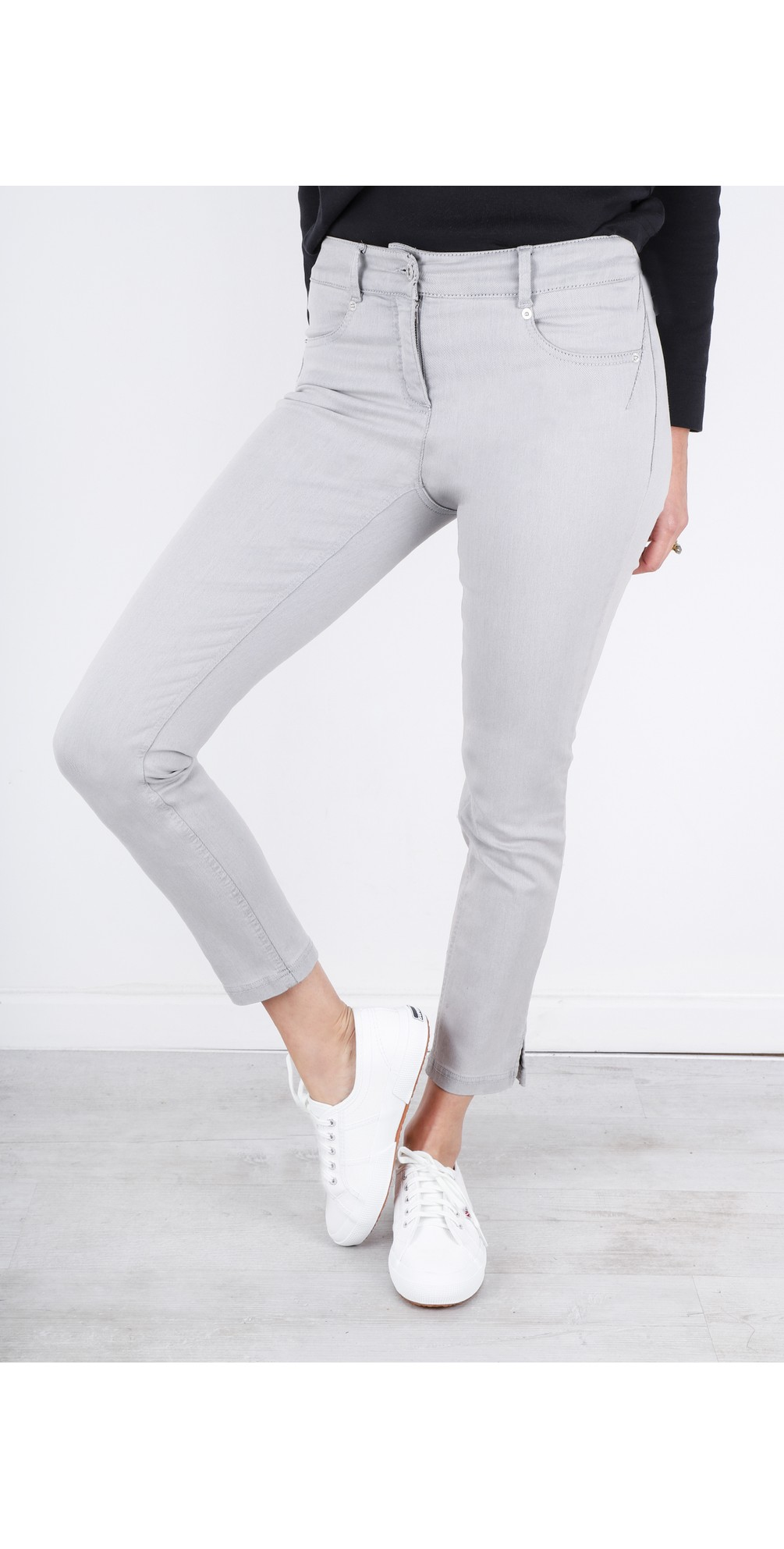 Star 09 Light Grey Power Stretch Cropped Skinny jean main image
