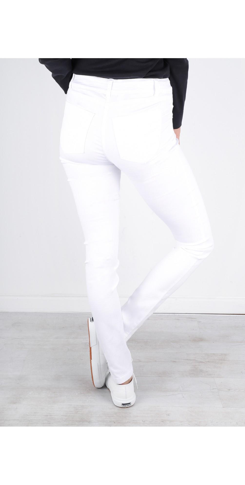 Star Power Stretch White Skinny Jean main image