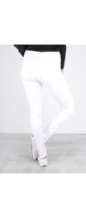 Robell Star Power Stretch White Skinny Jean White