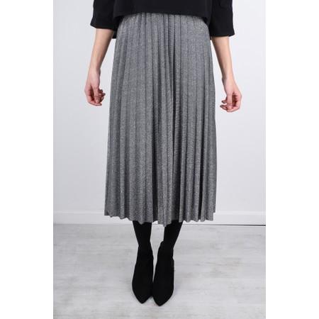 Luella Sparkle Pleated Skirt - Metallic