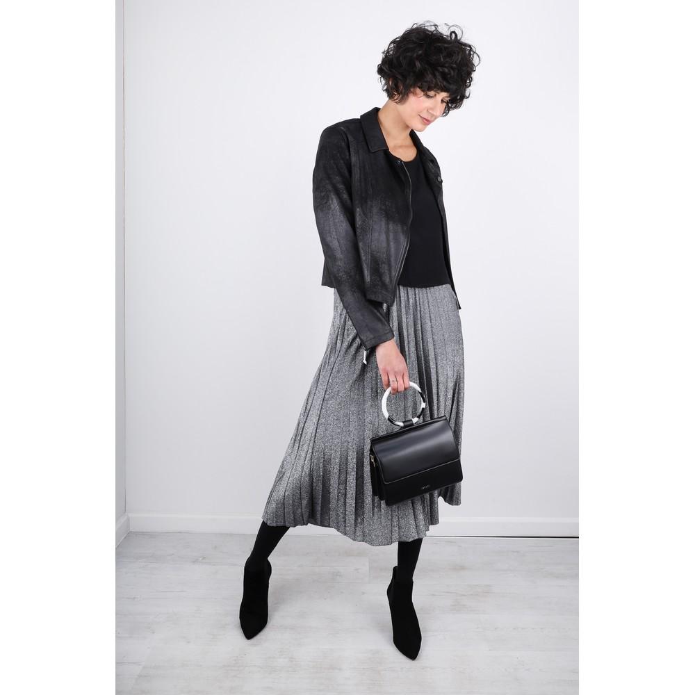 Luella Sparkle Pleated Skirt Silver