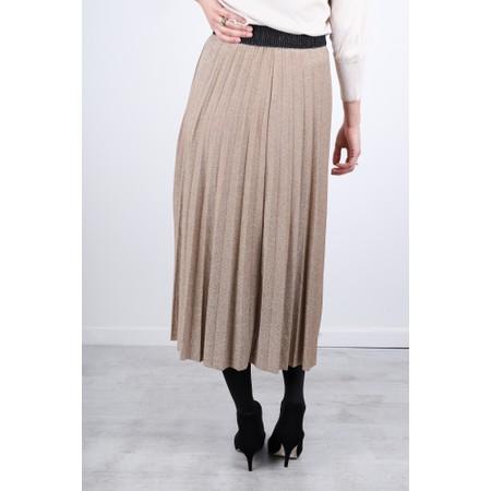 Luella Sparkle Pleated Skirt - Gold