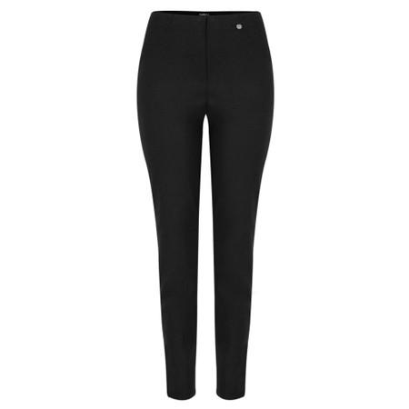 Robell Bella Black Slim Fit 78cm Full Length Trouser - Black