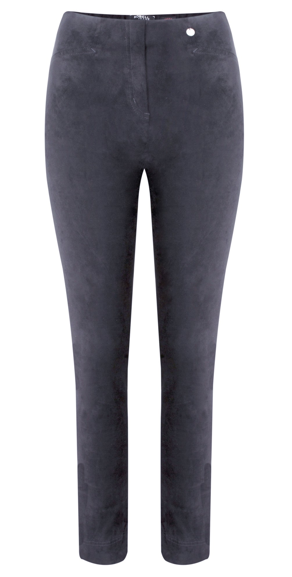 Rose Grey Stretch Faux Suede Trouser main image