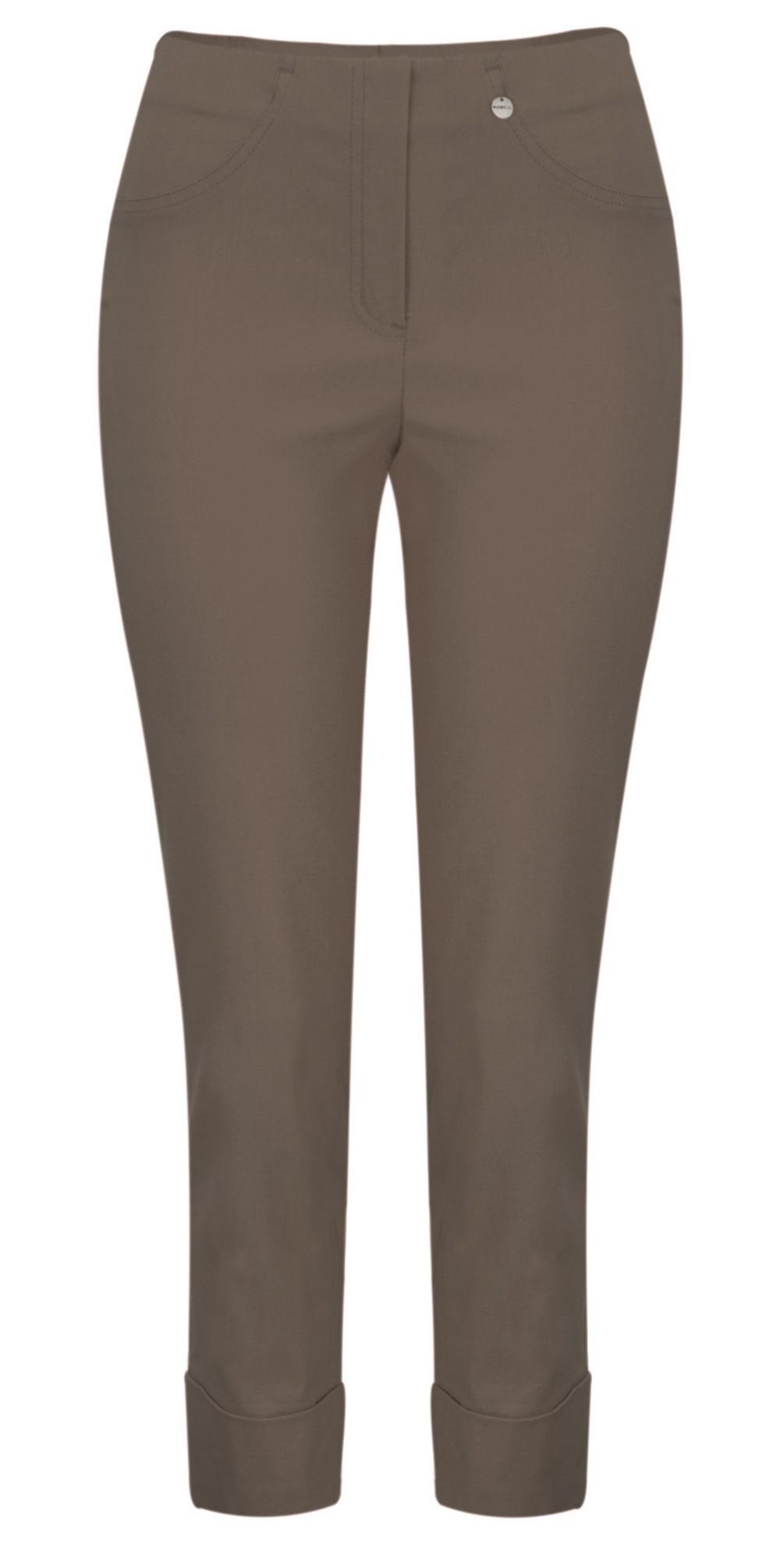 Bella 09 Almond Ankle Length Crop Cuff Trouser main image