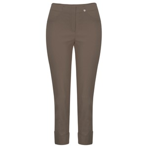 Robell  Bella 09 Almond Ankle Length Crop Cuff Trouser
