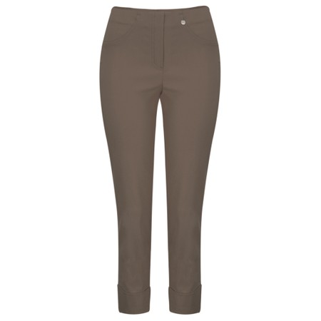 Robell  Bella 09 Almond Ankle Length 7/8 Cuff Trouser - Brown