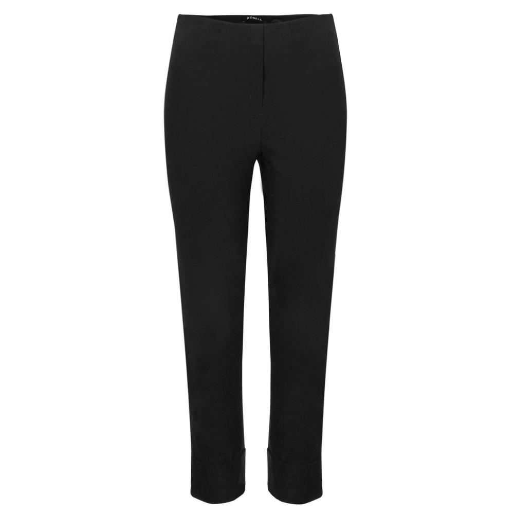 Robell  Bella 09 Black Ankle Length Crop Cuff Trouser Black 90